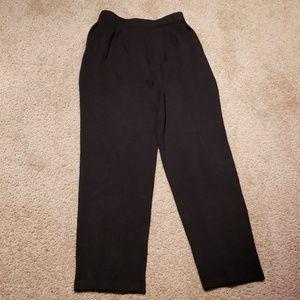 Vtg St.John Basics Blk Santana Knit Pants sz 4